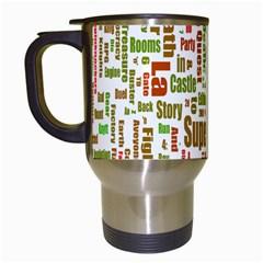 Screen Source Serif Text Travel Mugs (White)