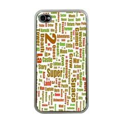 Screen Source Serif Text Apple iPhone 4 Case (Clear)