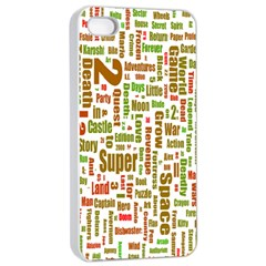 Screen Source Serif Text Apple iPhone 4/4s Seamless Case (White)