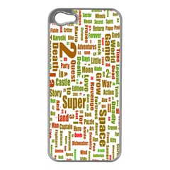 Screen Source Serif Text Apple iPhone 5 Case (Silver)