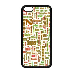Screen Source Serif Text Apple iPhone 5C Seamless Case (Black)
