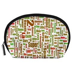 Screen Source Serif Text Accessory Pouches (Large)