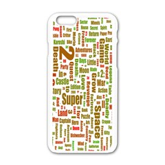 Screen Source Serif Text Apple iPhone 6/6S White Enamel Case