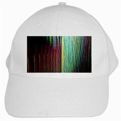Screen Shot Line Vertical Rainbow White Cap