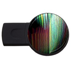 Screen Shot Line Vertical Rainbow USB Flash Drive Round (1 GB)