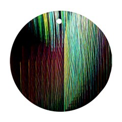 Screen Shot Line Vertical Rainbow Round Ornament (Two Sides)