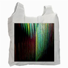 Screen Shot Line Vertical Rainbow Recycle Bag (Two Side)