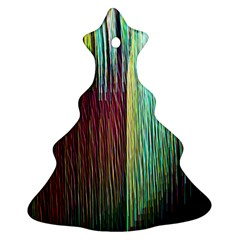 Screen Shot Line Vertical Rainbow Ornament (Christmas Tree)