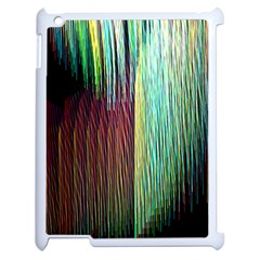 Screen Shot Line Vertical Rainbow Apple iPad 2 Case (White)