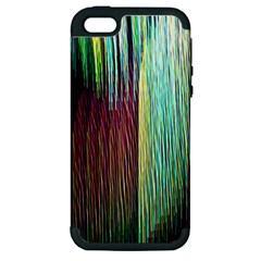 Screen Shot Line Vertical Rainbow Apple iPhone 5 Hardshell Case (PC+Silicone)