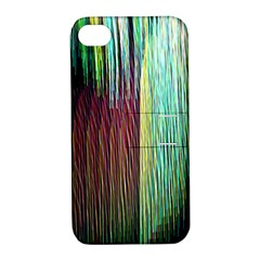 Screen Shot Line Vertical Rainbow Apple iPhone 4/4S Hardshell Case with Stand
