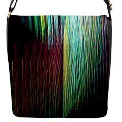 Screen Shot Line Vertical Rainbow Flap Messenger Bag (S)