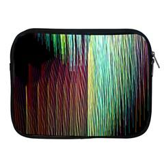 Screen Shot Line Vertical Rainbow Apple iPad 2/3/4 Zipper Cases