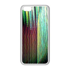 Screen Shot Line Vertical Rainbow Apple iPhone 5C Seamless Case (White)