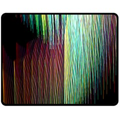 Screen Shot Line Vertical Rainbow Double Sided Fleece Blanket (Medium)