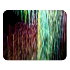 Screen Shot Line Vertical Rainbow Double Sided Flano Blanket (large)