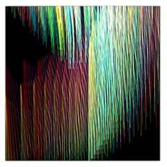 Screen Shot Line Vertical Rainbow Large Satin Scarf (Square)