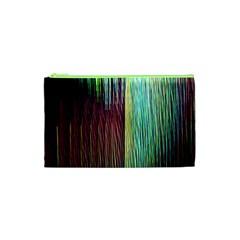 Screen Shot Line Vertical Rainbow Cosmetic Bag (XS)