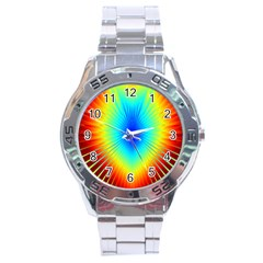 View Max Gain Resize Flower Floral Light Line Chevron Stainless Steel Analogue Watch