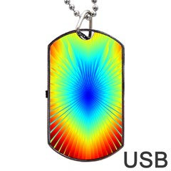 View Max Gain Resize Flower Floral Light Line Chevron Dog Tag USB Flash (Two Sides)