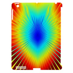 View Max Gain Resize Flower Floral Light Line Chevron Apple iPad 3/4 Hardshell Case (Compatible with Smart Cover)