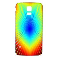 View Max Gain Resize Flower Floral Light Line Chevron Samsung Galaxy S5 Back Case (White)
