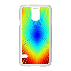 View Max Gain Resize Flower Floral Light Line Chevron Samsung Galaxy S5 Case (White)