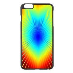 View Max Gain Resize Flower Floral Light Line Chevron Apple iPhone 6 Plus/6S Plus Black Enamel Case