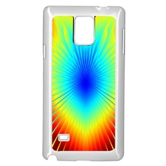 View Max Gain Resize Flower Floral Light Line Chevron Samsung Galaxy Note 4 Case (White)