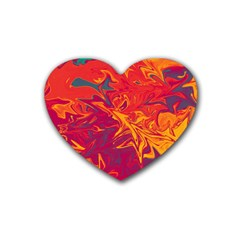 Colors Heart Coaster (4 pack)