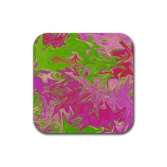 Colors Rubber Square Coaster (4 pack)