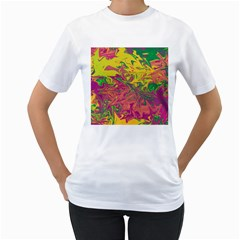 Colors Women s T-Shirt (White) (Two Sided)