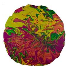 Colors Large 18  Premium Round Cushions