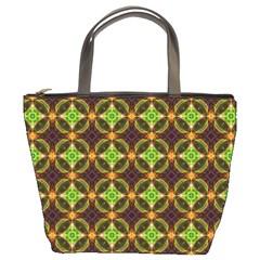 Kiwi Like Pattern Bucket Bags