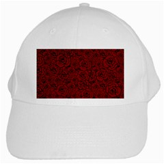 Red Roses Field White Cap