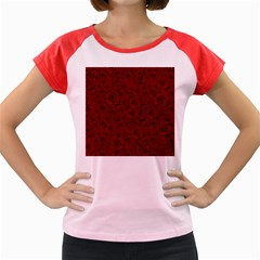 Red Roses Field Women s Cap Sleeve T Shirt