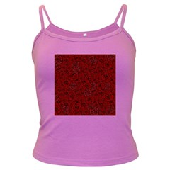 Red Roses Field Dark Spaghetti Tank