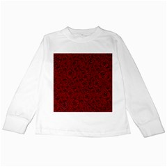 Red Roses Field Kids Long Sleeve T Shirts