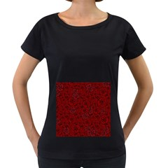 Red Roses Field Women s Loose-Fit T-Shirt (Black)