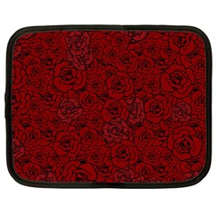 Red Roses Field Netbook Case (Large)
