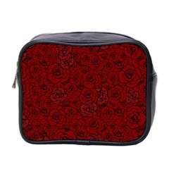 Red Roses Field Mini Toiletries Bag 2 Side