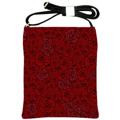 Red Roses Field Shoulder Sling Bags