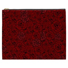 Red Roses Field Cosmetic Bag (XXXL)