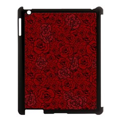 Red Roses Field Apple Ipad 3/4 Case (black)