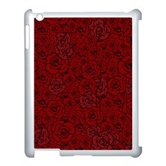 Red Roses Field Apple iPad 3/4 Case (White)