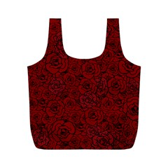 Red Roses Field Full Print Recycle Bags (M)