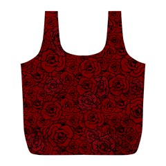 Red Roses Field Full Print Recycle Bags (L)