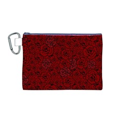 Red Roses Field Canvas Cosmetic Bag (M)