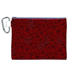 Red Roses Field Canvas Cosmetic Bag (XL)