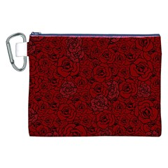 Red Roses Field Canvas Cosmetic Bag (XXL)